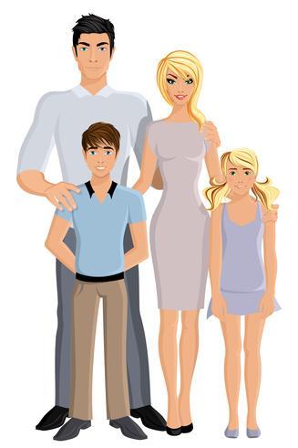 Glückliche Familie in voller Länge vektor