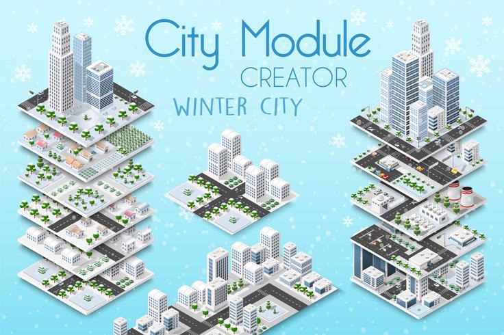 Ersteller eines Stadtmoduls vektor