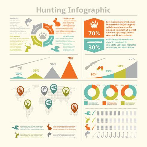 Jaktinfographics vektor