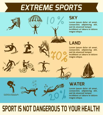 Extremsport Infografik vektor