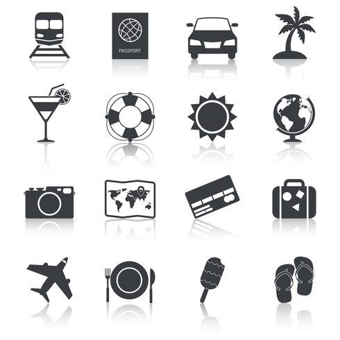 Reise-Ikonen eingestellt vektor