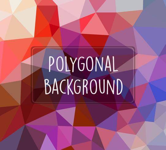 Polygonaler Hintergrund für das Handwerk vektor