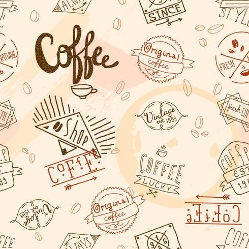Vintage retro kaffe sömlös vektor