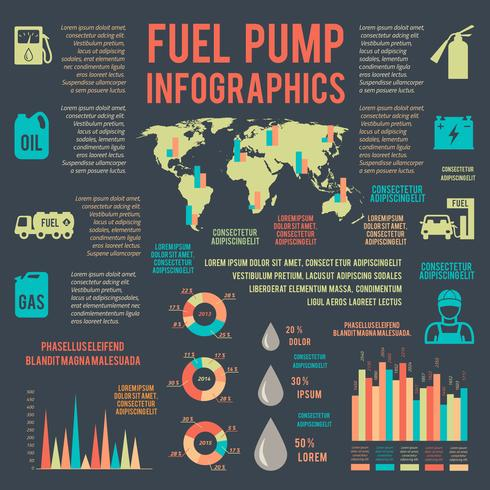Auto-Benzin-Service-Infografiken vektor