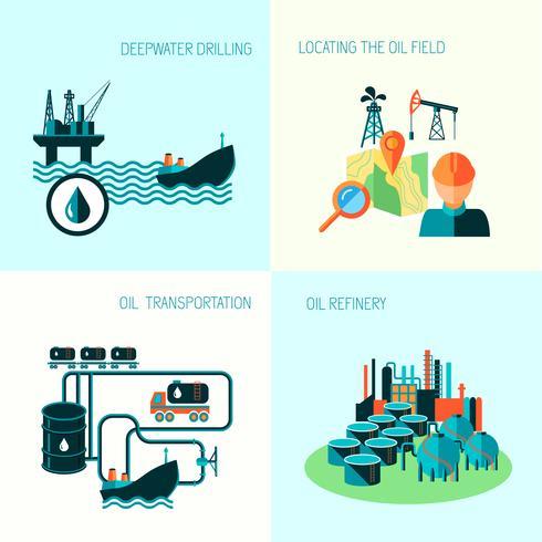 Ölindustrie Zusammensetzung vektor