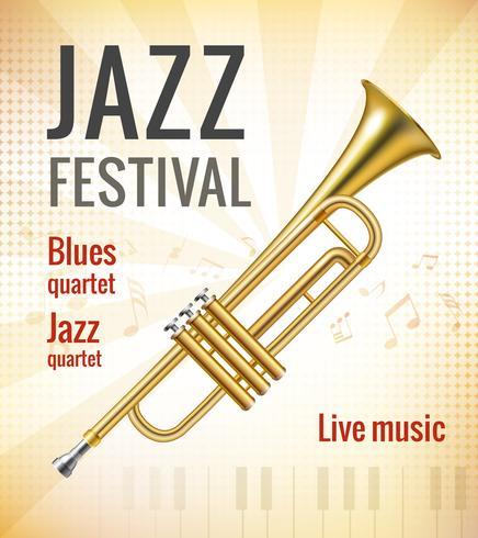 Jazz konsertaffisch vektor