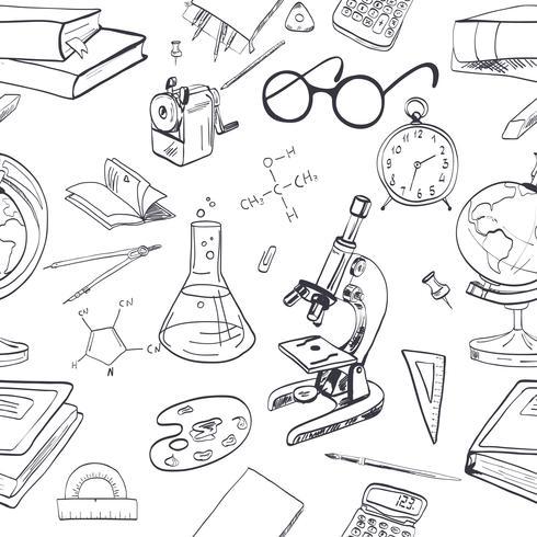 Utbildning ikon doodle sömlös vektor