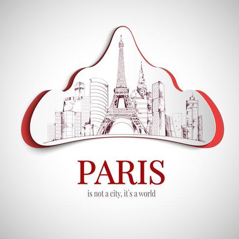paris city emblem vektor