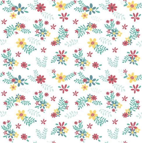 färgglad vårblomma sömlös mönster vektor