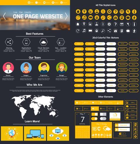 Webbdesignmall vektor