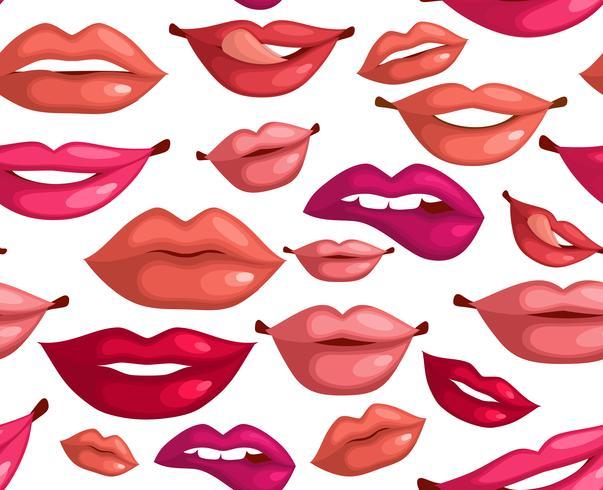 Nahtlose Lippen vektor
