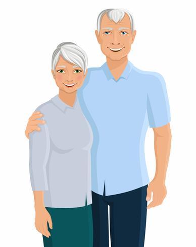 Älteres Paarportrait vektor