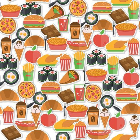 Fast-Food-Symbol nahtlos vektor