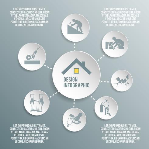 Rooferpapper infografiskt vektor