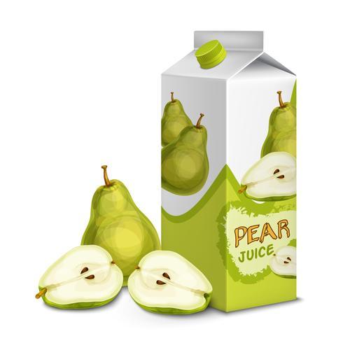 Juice pack päron vektor