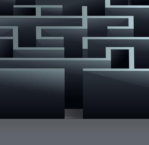 labyrint 3d kvadrat vektor