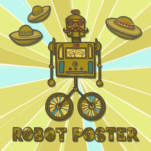 Hipster-Roboter-Design vektor