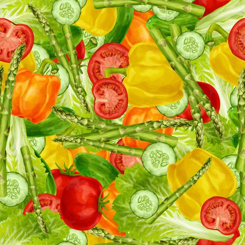 Gemüse mischen nahtlosen Hintergrund vektor