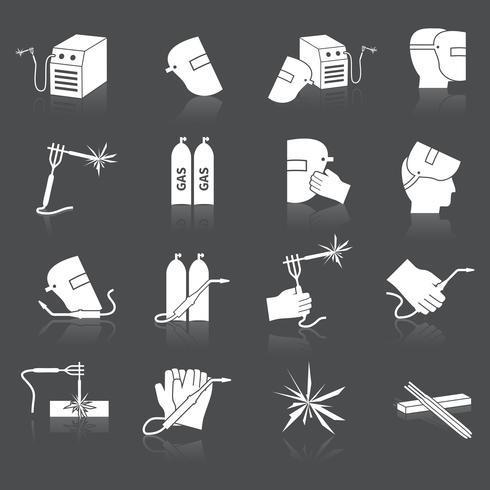 svetsare ikoner uppsättning vektor