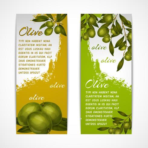 Olive vertikala banderoller vektor