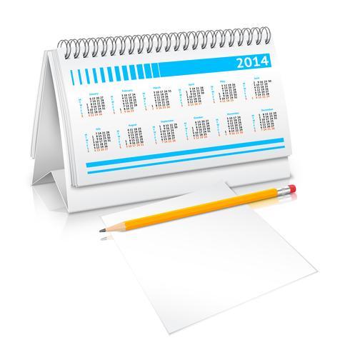 Skrivbordskalendermockup vektor