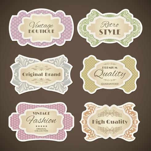 Vintage etikett uppsättning vektor