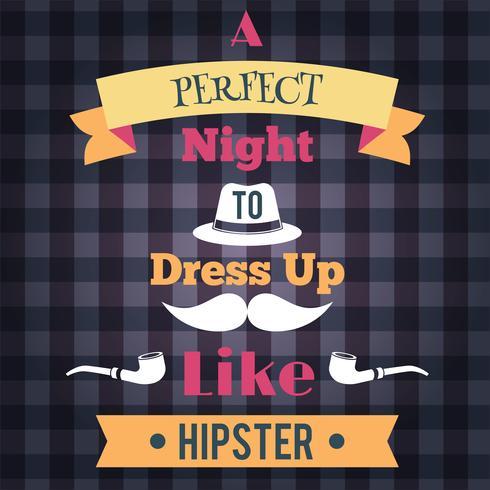Hipster Retro-Poster vektor