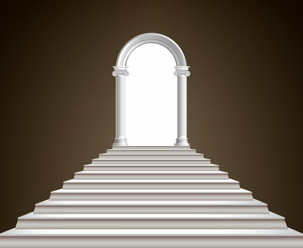 Treppenhaus und Bogen vektor