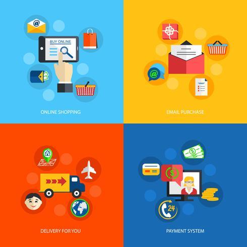 Internet shopping platt vektor