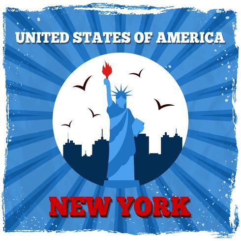 Retro Plakat New York USA vektor