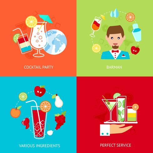 Cocktail ikoner uppsättning vektor