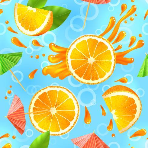 Orange nahtloses Muster vektor
