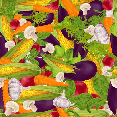Gemüse realistischer nahtloser Hintergrund vektor