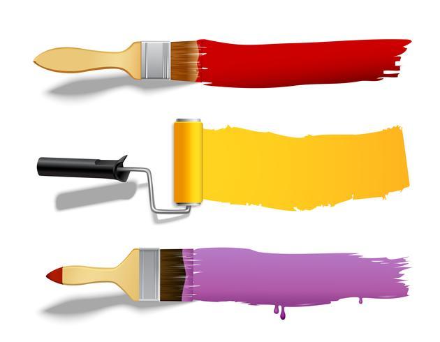 Pinsel und Roller Banner vektor