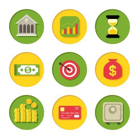Finanzielle Symbole festgelegt vektor