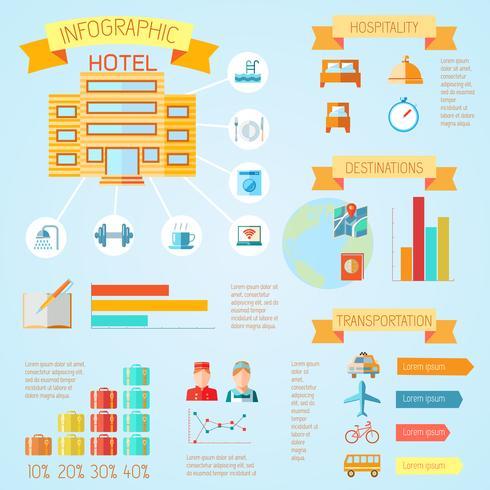 Hotellinfographics vektor