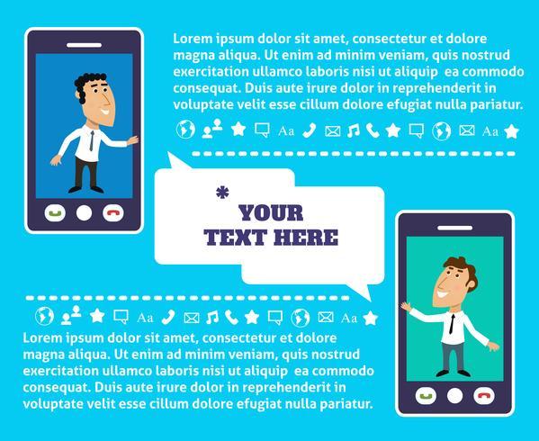 Präsentation der mobilen Kommunikation vektor