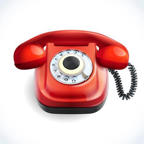 Retro stil telefon färg vektor
