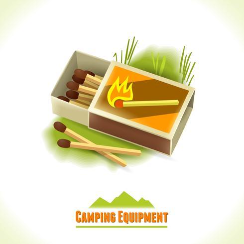Camping Symbol passt vektor