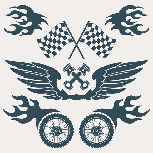 Motorcykel designelement vektor