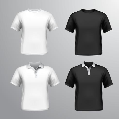 T-Shirts männlich gesetzt vektor