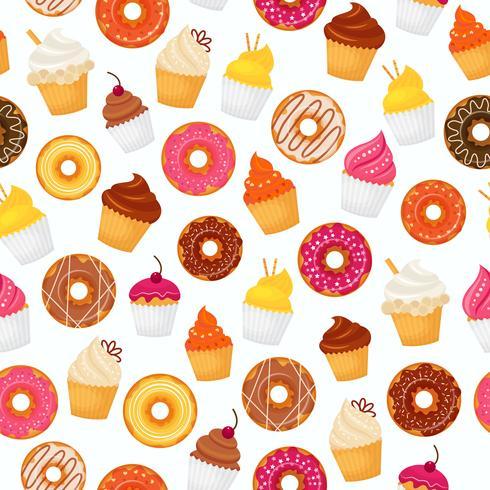 Donut nahtlose Muster vektor