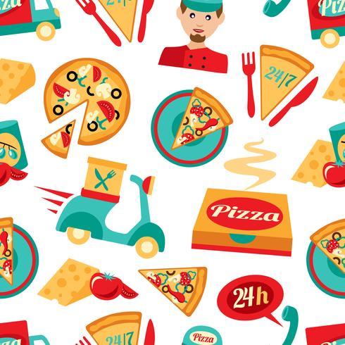 Pizza sömlöst mönster vektor