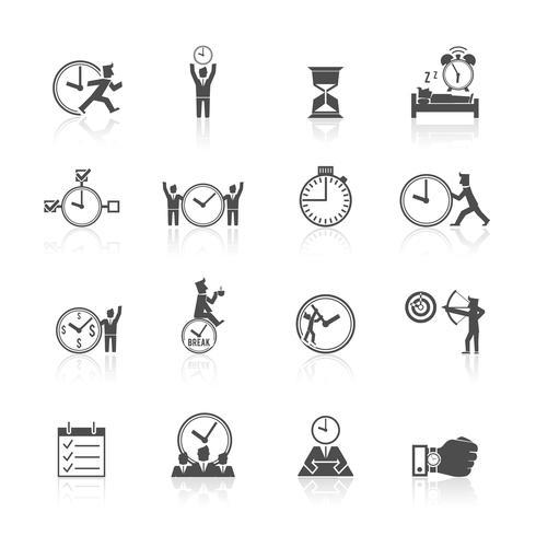Tidsstyrningssymboler vektor