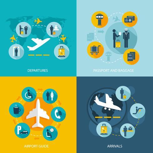 Flughafenterminal Flugdienste vektor