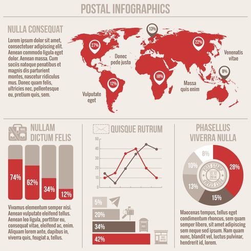 Posttjänster infographics vektor