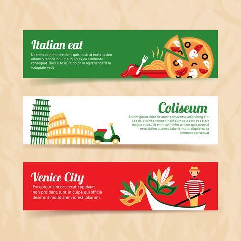 Italien banner set vektor