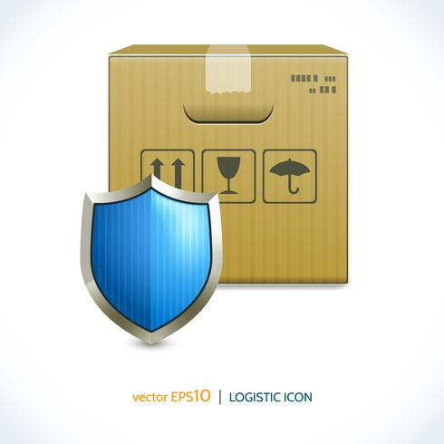 Logistisk ikonlåda och skärm vektor