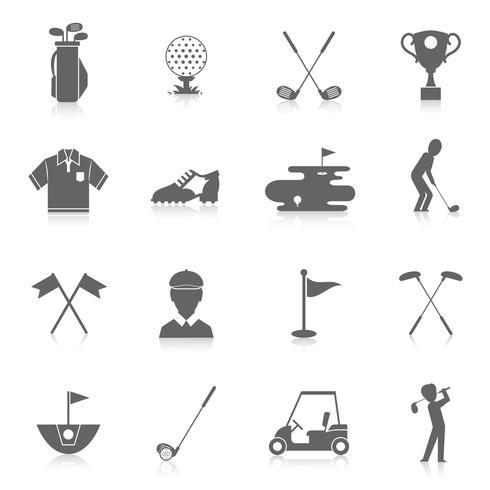 Golf ikoner uppsättning vektor