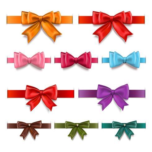 Geschenkbänder eingestellt vektor